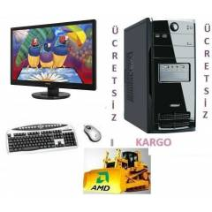 AMD 4 �EKiRDEK+22 LED+320 GB +8 GB RAM+HAZIR PC