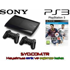 SONY PS3 12 GB + F�FA 2014 + 2. KOL - SIFIRR