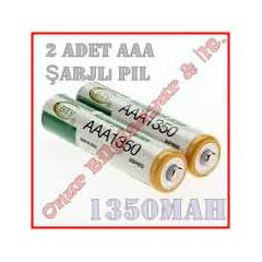 Ni-MH BTY AAA 1350 mAh �arjl� ince Pil 2 Adet