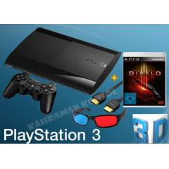 PS3-Sony Playstation 3 Super Slim 12 GB + Diablo