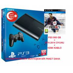 Sony Playstation 3 500 gb +F�FA 2014 OYUNU +HDMI