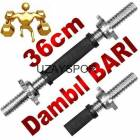 Delta 36 cm. K�sa Kau�uk Damb�l Dumbell Bar� KUF