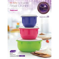 TUPPERWARE M�KS�M SET 3 L� -HER �HT�YACA G�RE