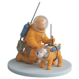 Tintin & Snowy In Spacesuit Album Scene (Tenten)