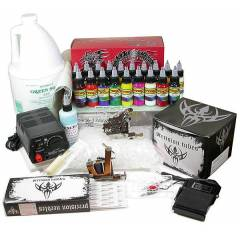 TATTOO D�VME SET� 2 makineli full set 7 boya