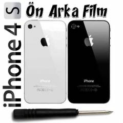 Apple iPhone 4S Arka Pil Kapa�� +Tornavida +Film