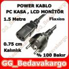 Flaxes Pc Power Kablosu % 100 Bak�r 1.5 m