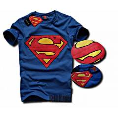 Superman Slim Fit Body Bisiklet Yaka Tshirt 2014