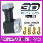 Technomax �iftli Lnb Twin ikili Lnb Full Hd veSd