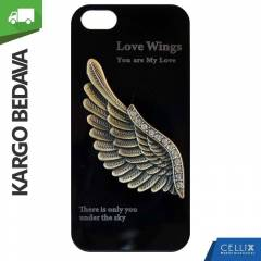 iPhone 5/5S K�l�f Love Wings 3d Metal Kargo �.
