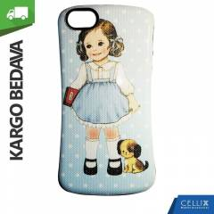 iPhone 5/5S Silikon K�l�f Doll Girl K�l�f