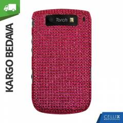 BlackBerry Torch 9800 Ta�l� K�l�f Koyu Pembe