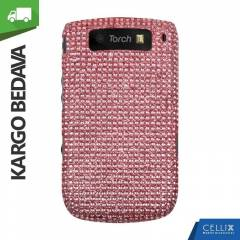 BlackBerry Torch 9800 Ta�l� K�l�f Toz Pembe