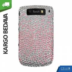 BlackBerry Torch 9800 Ta�l� K�l�f Kademeli Pembe
