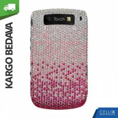 BlackBerry Torch 9800 Ta�l� K�l�f Pembe G�m��