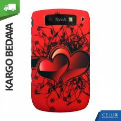 BlackBerry Torch 9800 K�l�f K�rm�z� A��k Kalpler