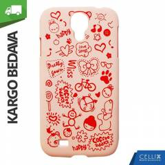 Samsung Galaxy S4 K�l�f Toz Pembe Happy