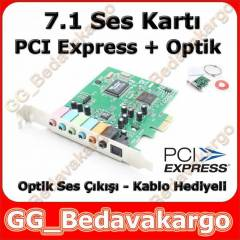 Pci-Express 7.1 Ses Karti - Optik ��k��l�