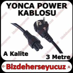 3 Pin Laptop Adapt�r Kablosu Yonca Power 3m