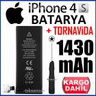 APPLE iPHONE 4S BATARYA P�L 1430 mAh +TORNAV�DA