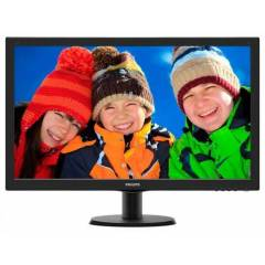 "Philips 27"" Philips 273V5LHAB/01 Led 5ms Dvi Siy"