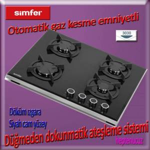 Simfer 3030-D Do�algazl� s�per Set�st� cam Ocak