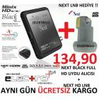 NEXT FULL HD M�N�X BLACK + NEXT HD LNB HED�YE !!