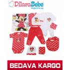 Disney Minnie Mouse 10 lu Z�b�n Seti K�rm�z�