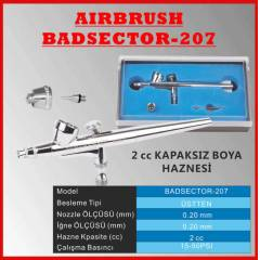 DUAL ACTION AIRBRUSH BADSECTOR 207 SLIM HANDLE