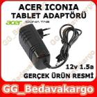 Acer Tablet Adapt�r� 12V 1.5A 18W