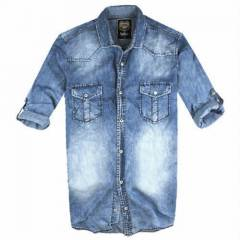 BIG BLUE RANDOM YIKAMA SLIM FIT KOT G�MLEK
