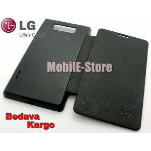 LG Optimus L7 P705 Slim Yan Flip Cover+3xFilm