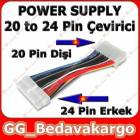 20 Pin 24 Pin ATX Power Di�i Erkek D�n��t�r�c�