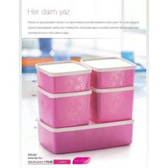 TUPPERWARE ANTART�KA 5L� SET PEMBE RENK NEW