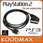 Playstation 2 3 RGB SCART TV AV BA�LANTI KABLOSU