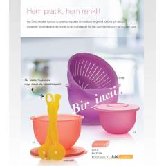TUPPERWARE EKO SET SET 3 L� ve SALATA KA�IKLARI