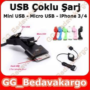 �phone 4 4s micro mini USB DATA �ARJ KABLO
