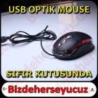 Optik Usb Mouse - K�rm�z� I��kl� - USB Mause