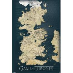Maxi Poster - Game Of Thrones - Map Duvarlar�n�z