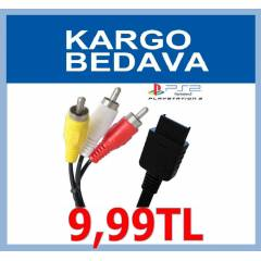 PS2 AV TV TELEV�ZYON BA�LANTI KABLOSU 2MT