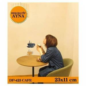ART�KEL CAFE AYNA STICKER 25,3X11 CM