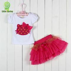 Hello Kitty Tasar�m T�t� Etek+Tshirt Set-Tak�m