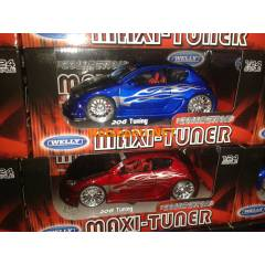 Welly 1.24 Maxi TUNER Pegeout 206 Tuning