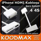iPhone 4S Hdmi Kablosu Digital AV HDMI Adapt�r