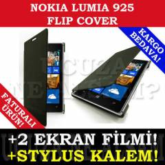 NOKIA LUMIA 925 KILIF FLIP COVER �NCE FULL SET