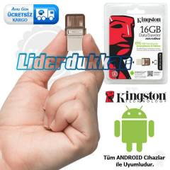 Kingston MicroDuo 16 GB Micro USB Flash Bellek