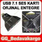 7+1 USB SES KARTI LAPTOP NOTEBOOK SES KARTI