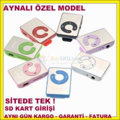 Mini MP3 Player 8GB Destekli MP3 m�zik �ALAR
