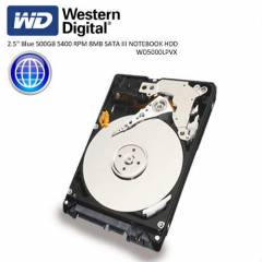 "W.DIGITAL 2.5"" Blue 500GB 5400 RPM NOTEBOOK HDD"