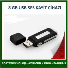 8GB USB Flash Disk Ses Kay�t Cihaz� USB SES KAYI